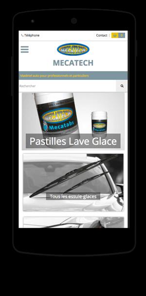 mecatech-online.fr en version mobile est réalisé avec epro shopping