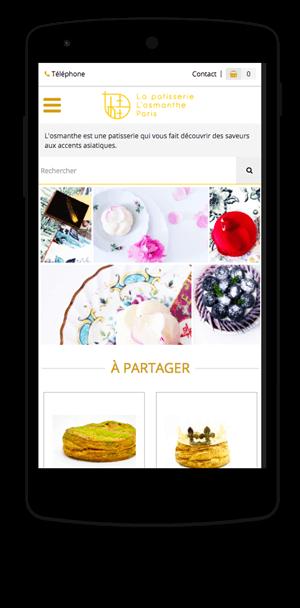 Losmanthe.com en version mobile est réalisé avec epro shopping
