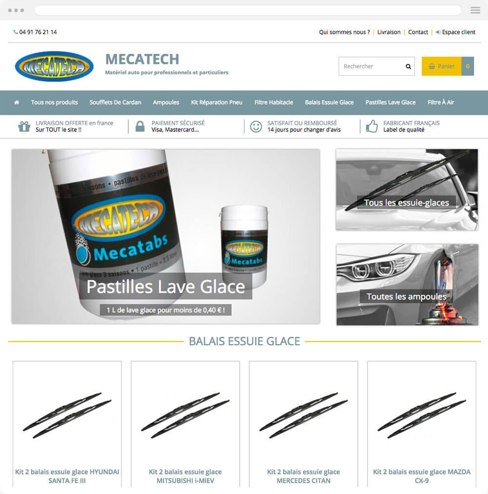 mecatech-online.fr est réalisé avec epro shopping