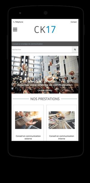 ck17.fr en version mobile est réalisé avec epro shopping