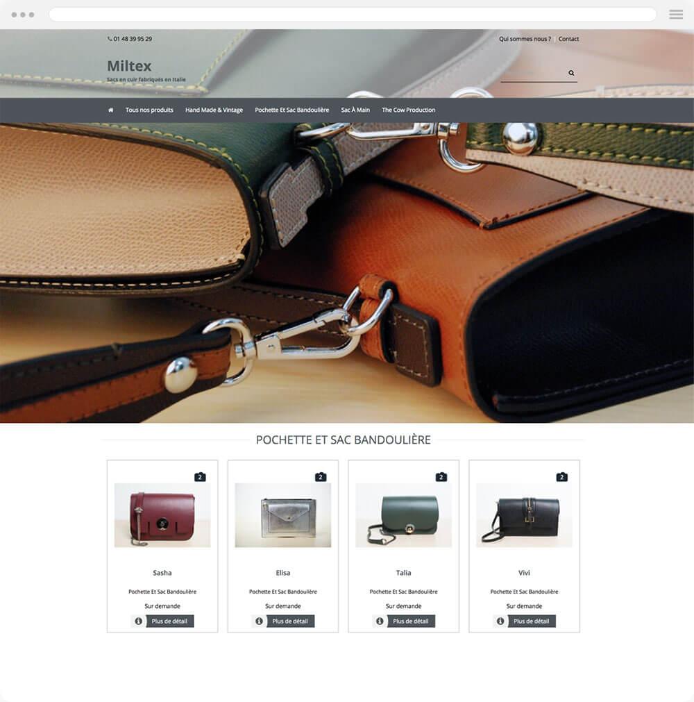 miltex.fr est réalisé avec epro shopping