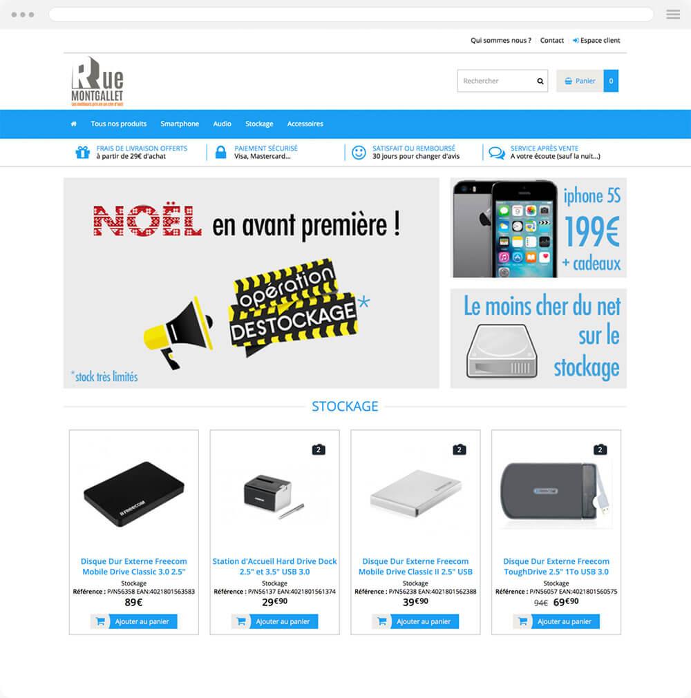 destockage.rue-montgallet.com est réalisé avec epro shopping