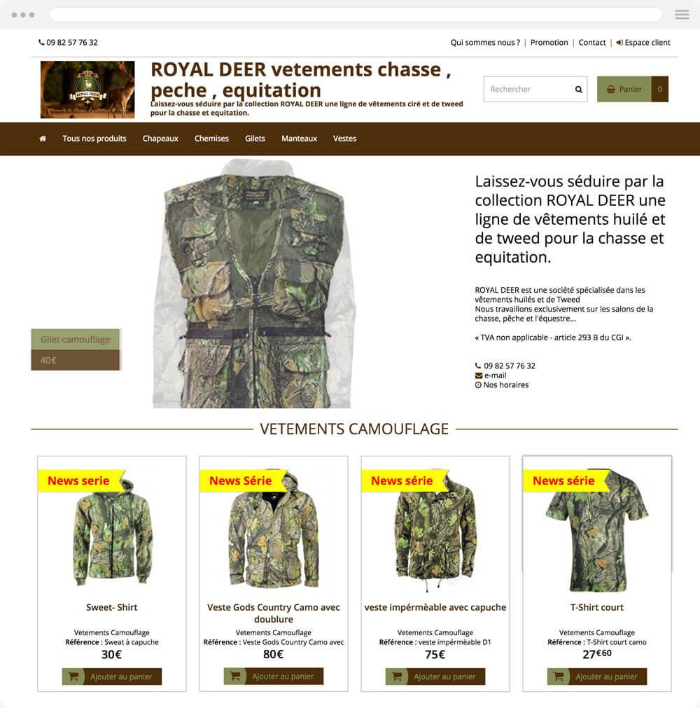royal-deer.eproshopping.fr est réalisé avec epro shopping
