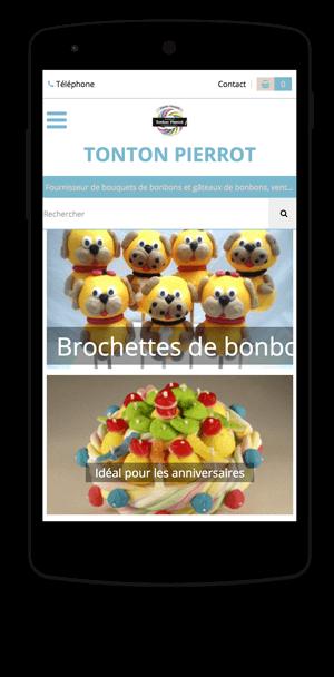 bonbecshow.fr en version mobile est réalisé avec epro shopping
