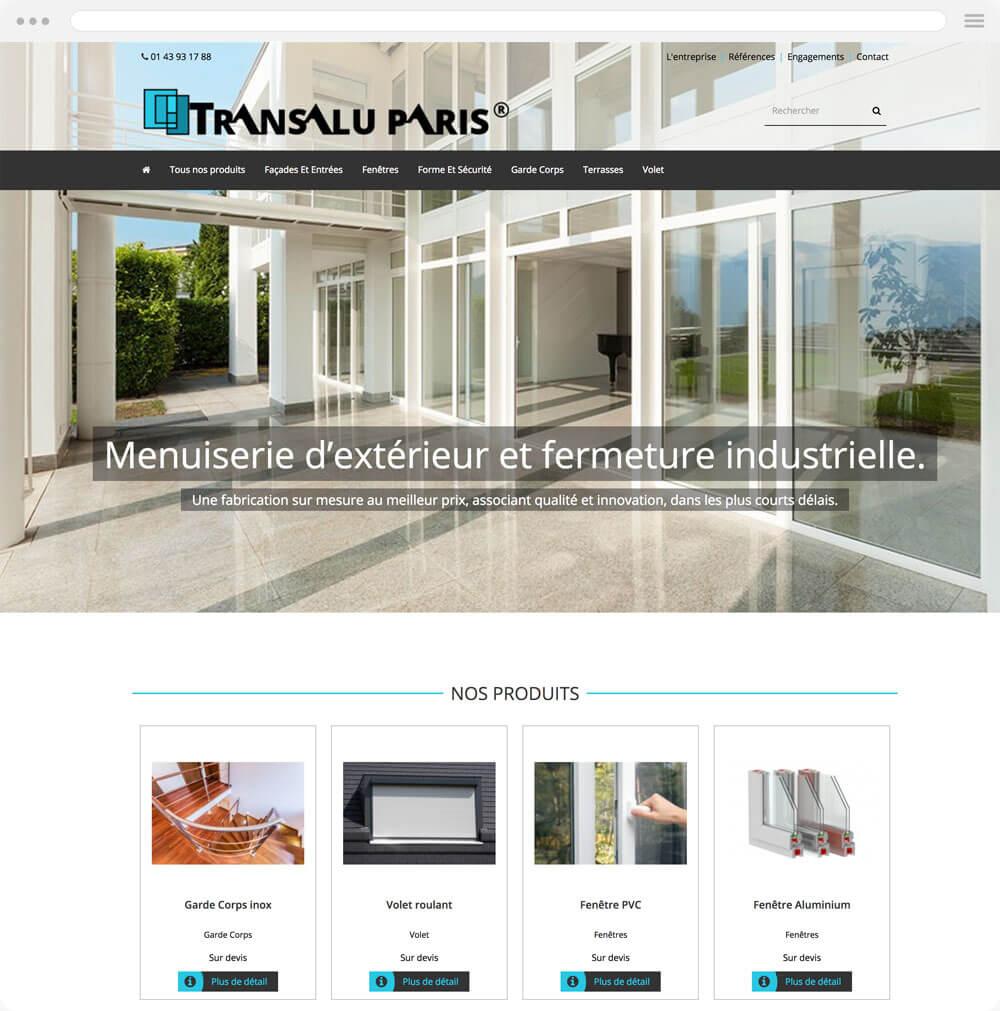 transalu.fr est réalisé avec epro shopping